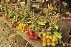 Rambutan fruit market Royalty Free Stock Photography
