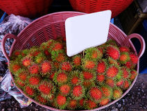 Rambutan  fruit market in Thailand. Royalty Free Stock Image