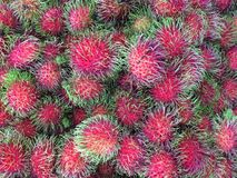 Rambutan fruit. Texture pattern backgriund Royalty Free Stock Photography