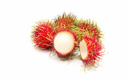 Rambutan fruit with red shell Stock Photo