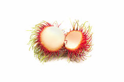 Rambutan fruit with red shell Royalty Free Stock Photography