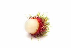 Rambutan fruit with red shell Royalty Free Stock Images
