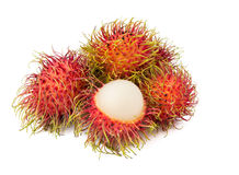 Rambutan fruit with red shell Royalty Free Stock Image