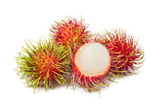 Rambutan fruit with red shell Royalty Free Stock Photos