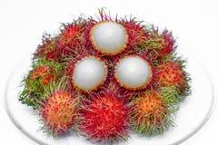 Rambutan fruit. Of thai people  and isolated Stock Photography