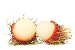 Rambutan fruit  on white background.  Stock Image