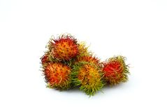 Rambutan fruit  on white background Stock Image