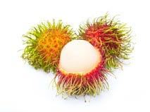 Rambutan fruit on white Royalty Free Stock Images