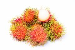 Rambutan fruit on white Stock Photography