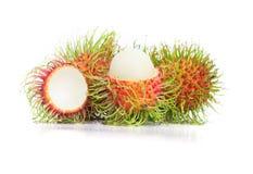 Rambutan fruit on white background. The rambutan fruit on white background Stock Photography