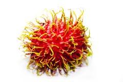 Rambutan fruit on white background. Lsolated photo Royalty Free Stock Image
