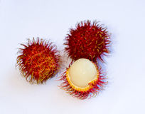 Rambutan fruits from Indonesia. Photo of tropical fruits. Photo taken at Jember, East Java, Indonesia Stock Images