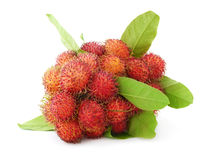 Rambutan. Fruits isolated on white Stock Photos