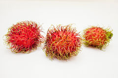Rambutan. Fruits isolated on white background Stock Photos