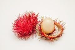 Rambutan. Fruits isolated on white background Royalty Free Stock Image