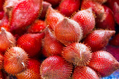 Rambutan fruits on the local market Stock Photography