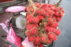 Rambutan Fruits at market Royalty Free Stock Images