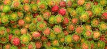 Rambutan fruits at a market in Mekong Delta Royalty Free Stock Photography