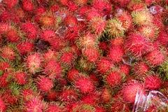 Rambutan fruits in Thailand. Royalty Free Stock Images