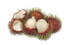 Rambutan fruits. On White background Royalty Free Stock Photography