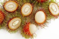 Rambutan fruits on white Stock Images