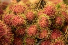 Rambutan, frutta tropicale in Sud-est asiatico Immagine Stock Libera da Diritti