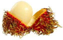 Rambutan geöffnet lizenzfreie stockfotos