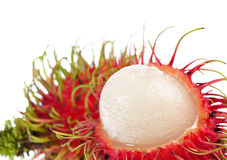Rambutan getrennt auf weißem Hintergrund Stockbild