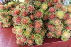 Rambutan or hairy fruit Stock Photo