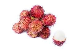 Rambutan isolado no branco foto de stock