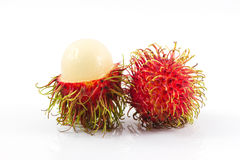 Rambutan. Isolate on white background Royalty Free Stock Photo