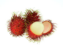 Rambutan isolate on white background. Royalty Free Stock Photo