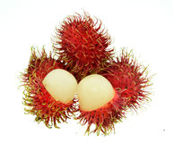 Rambutan isolate on white background. Royalty Free Stock Image