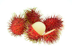 Rambutan isolate on white background. Rambutan isolate on white background Royalty Free Stock Image
