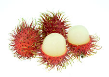 Rambutan isolate on white background. Royalty Free Stock Images