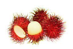 Rambutan isolate on white background.  Royalty Free Stock Photography