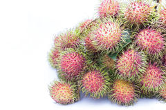 Rambutan isolate on white background, delicious fruit from Thail. And Stock Images