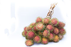 Rambutan isolate on white background, delicious fruit from Thail. And Stock Photo