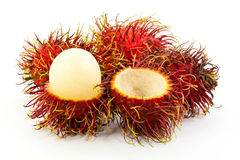 Rambutan isolated on white background. Fresh rambutan isolated on white background Royalty Free Stock Images