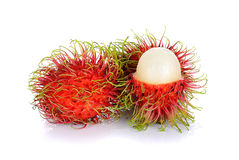 Rambutan isolated on the white background.  Royalty Free Stock Photography