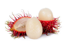 Rambutan isolated on the white background.  Stock Photography