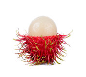 Rambutan isolated on the white background.  Royalty Free Stock Images