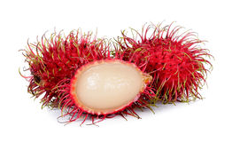 Rambutan isolated on the white background.  Stock Images