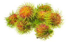 Rambutan isolated on white. Background Stock Photography