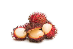 Rambutan isolated. On white background Royalty Free Stock Photography