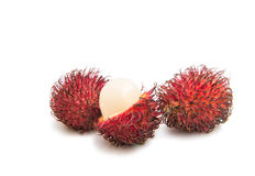 Rambutan isolated. On white background Royalty Free Stock Image