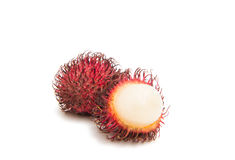 Rambutan isolated. On white background Stock Photo