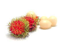 Rambutan isolated on white background . Rambutan isolated with white background Stock Photos