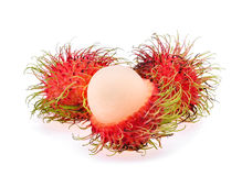 Rambutan isolated on the white. Background Stock Photo