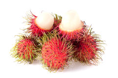 Rambutan isolated on white background.  Royalty Free Stock Images